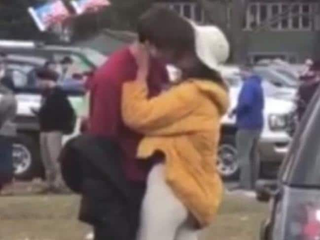 Malia Obama and Rory Farquharson kissing
