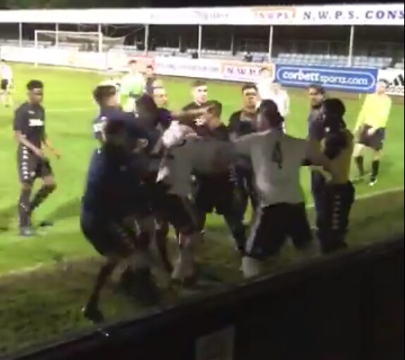 Leeds United under 23 team brawl