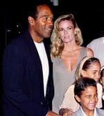 "OJ ""Juice"" Simpson with former wife Nicole Brown Simpson, daughter Sidney Brooke (9) & son Justin (6) 16/03/94 at premiere of film ""Naked Gun 33 1/3 : The Final Insult"" in Los Angeles. Nicole & male companion, Ronald (Ron) Goldman found murdered 12/06/94"