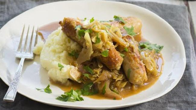 ... bangers and mash in to sausage and sauerkraut hotpot | Perth Now