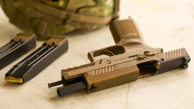 Sig Sauer pistol US army. Picture: Courtesy of the 101st Airborne Division
