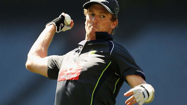 Australia's acting captain George Bailey led the team to victory over India. Note: International picture agencies are not covering the series due to a dispute with the BCCI. Picture: Hamish Blair