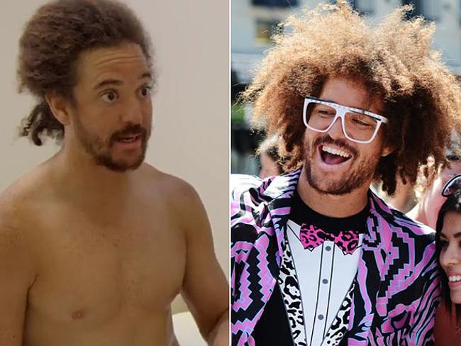 Redfoo looked like a different person when he got a massage during his web series, Behind the Speedo.