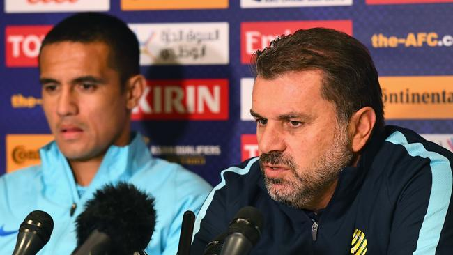Socceroos coach Ange Postecoglou still views Cahill as an important part of his set up. Photo by Getty Images.