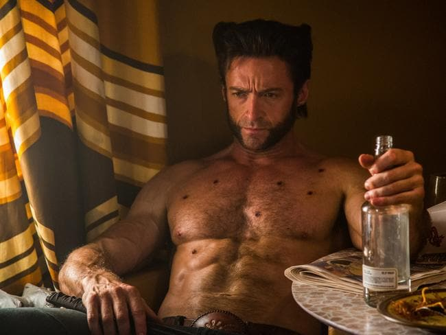 Muscle-bound ... X-Men: Days of Future Past star Hugh Jackman.