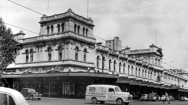 1956: The Herald van passes by the Eastern Market. Picture: Herald Sun Image Library/ARGU