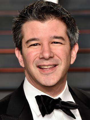 Former Uber CEO Travis Kalanick was the first to quit the council over Donald Trump's travel ban. Picture: Getty