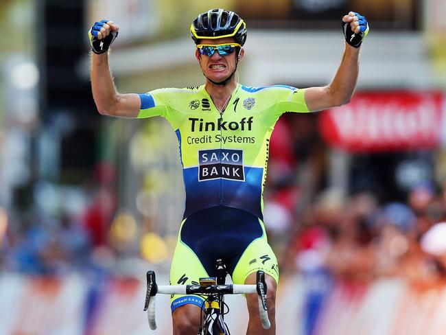 Victory - Michael Rogers of Australia celebrates his long-awaited first Tour de France stage win.