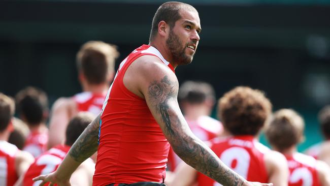 Lance Franklin trained strongly during the week. Picture: Phil Hillyard