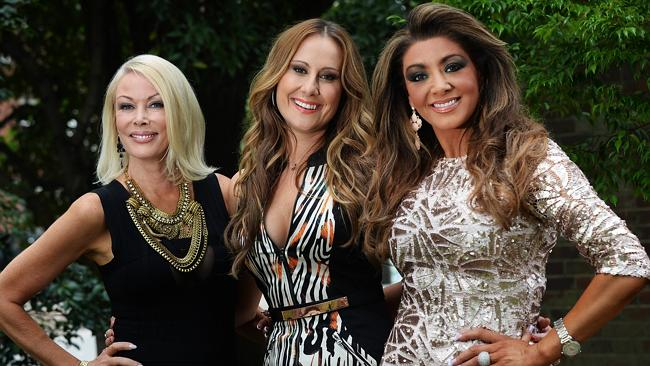 The Real Housewives of Melbourne Janet Roach, Jackie Gillies and Gina Liano
