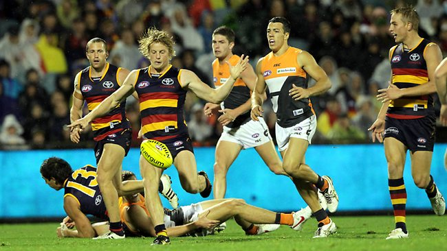 Rory Sloane goals against GWS. Picture: Sarah Reed