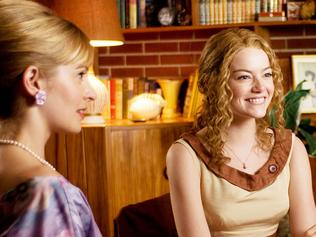"""In this film publicity image released by Disney, from left, Ahna O Reilly, Emma Stone, Bryce Dallas Howard and Anna Camp are shown in a scene from """"The Help."""" (AP Photo/Disney, Dale Robinette)"""
