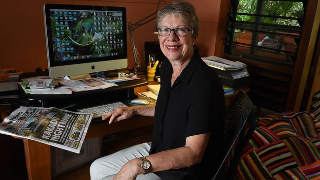 Former NT Chief Minister Clare Martin in her Darwin home office.
