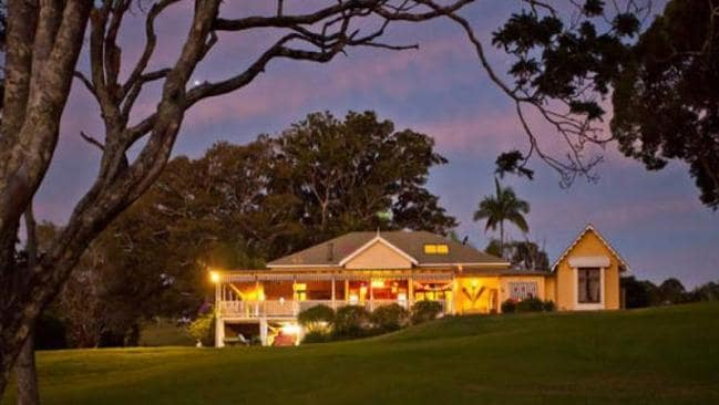 Robbie and Ackerley spent the night at the wedding venue in Coorabell. Picture: Supplied