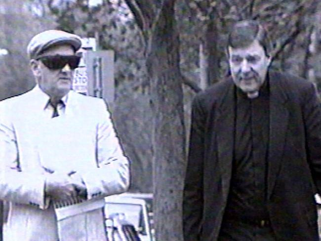 Father Gerald Ridsdale with Archbishop George Pell.