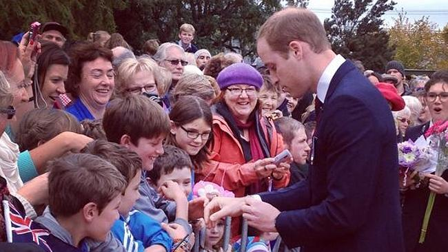 Popular ... William proves to be a hit with the locals in Blenheim.