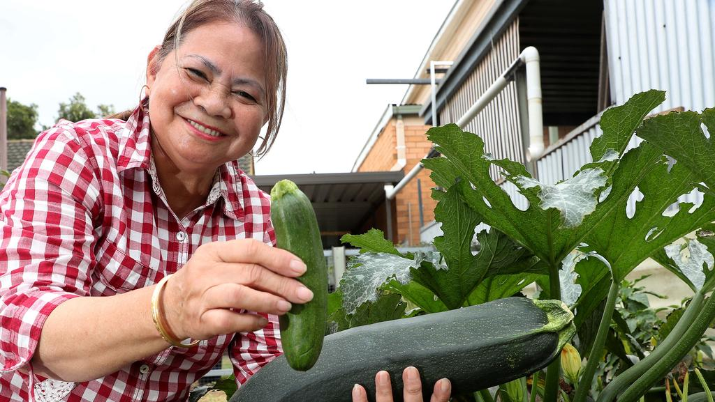 Evangeline Finnis has just started gardening but is already enjoying the fruits – or vegetables – of her success.