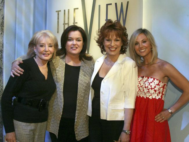 Fiery panel ... Co-hosts (L-R) Barbara Walters, Rosie O'Donnell, Joy Behar and Elisabeth Hasselbeck on set of TV show The View in 2007.