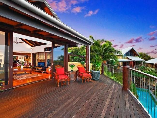 The home is moments from holiday hot spot Byron Bay.