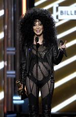 Cher accepts the Billboard Icon award onstage during the 2017 Billboard Music Awards at T-Mobile Arena on May 21, 2017 in Las Vegas, Nevada. Picture: AP