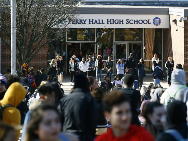 Students across America have walked out over gun violence. Picture: AP/Patrick Semansky