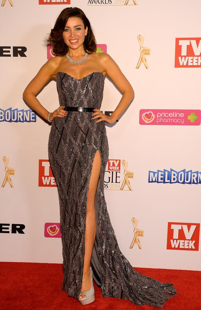 Dannii Minogue during the Red Carpet Arrivals ahead of the 56th TV Week Logie Awards 2014 held at Crown Casino on Sunday, April 27, 2014 in Melbourne, Australia. Picture: Jason Edwards