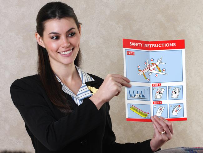 Funny retro Qantas safety cards