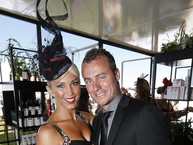 Amateur poet ... Lleyton Hewitt and Bec Hewitt in 2013.