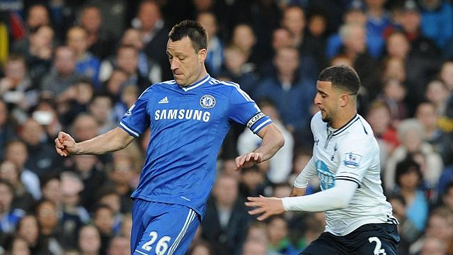 Chelsea captain John Terry in action against Tottenham.