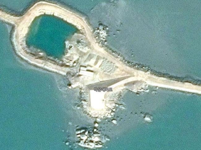Wide roads suitable for missile launch trucks, rectangular patches that could be launch pads are visible on the islands. Picture: Google Maps