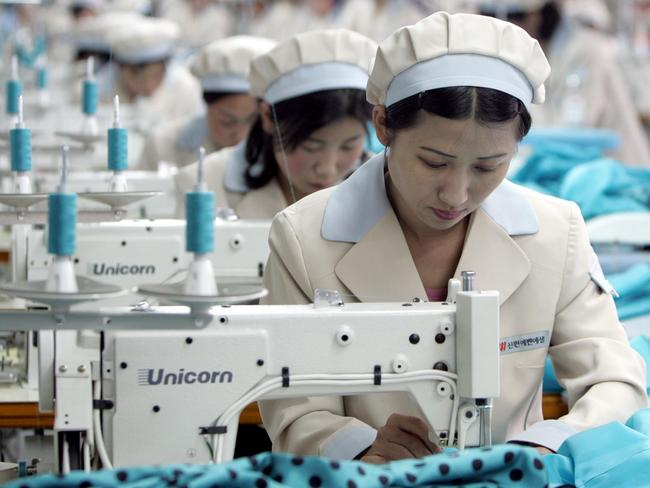 North Korean women are restricted to gender-defined jobs. Picture: AFP/Lee Jae-won