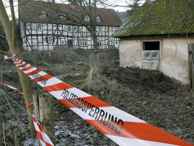 Scene ... a house in Rotenburg-an-der-Fulda in Germany belonging to cannibal Armin Meiwes. Picture: Supplied