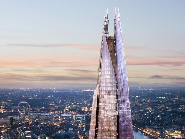 Standing at 310 metres, The Shard is a 95-storey building in the neighbourhood of Southwark. Picture: Supplied