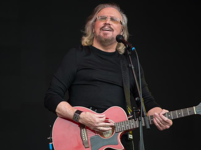 Sir Barry Gibb performing on the Pyramid Stage at this year's Glastonbury Festival. Picture: AFP/Oli Scarff