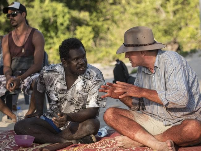The two men have several discussions on Aboriginal culture. Picture: David Dare Parker