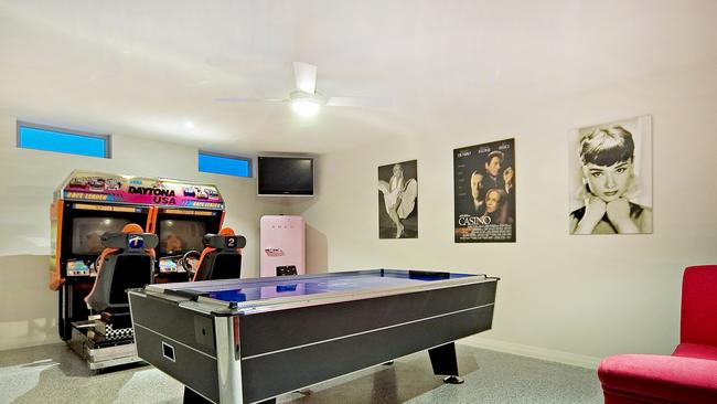 Pool rooms are always a popular man cave.
