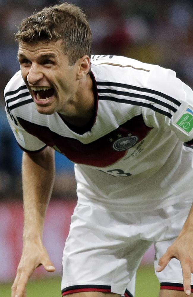 Germany's Thomas Mueller isn't feeling the stress at all.