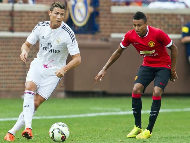 Real Madrid forward Cristiano Ronaldo made a late cameo against Manchester United.