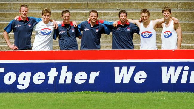Bob Murphy (third left) with teammates in 2002.