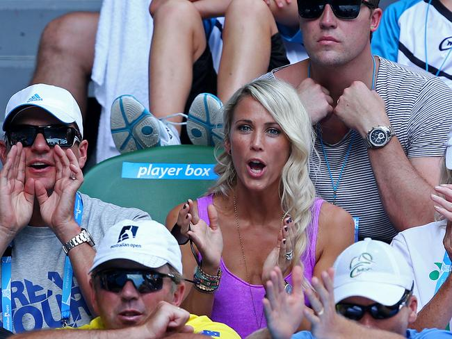 Yeah, Bec really hates the tennis. It's written all over her face. Picture: Mark Stewart
