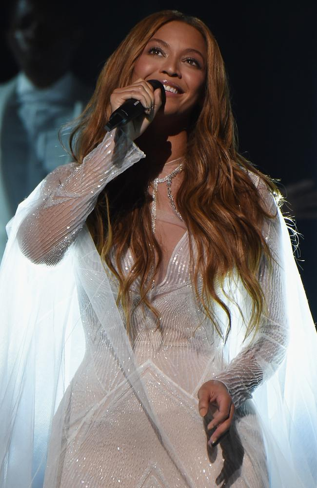 Converting the doubters ... Beyonce performs on stage. Picture: Larry Busacca/Getty Images for NARAS