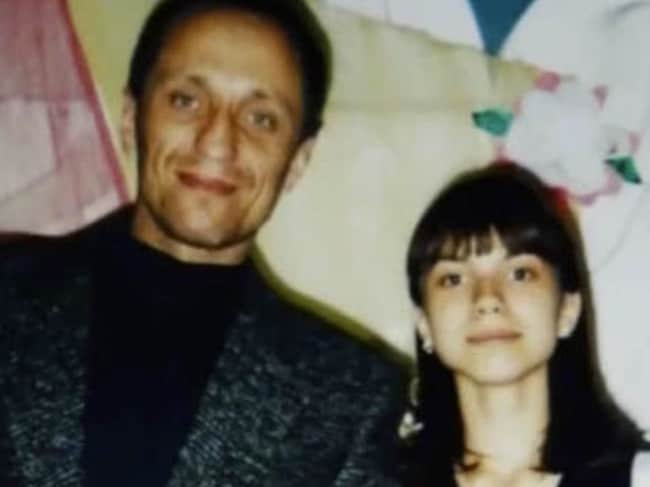 'The Werewolf' pictured with his daughter Katya, now aged 30, when she was young.