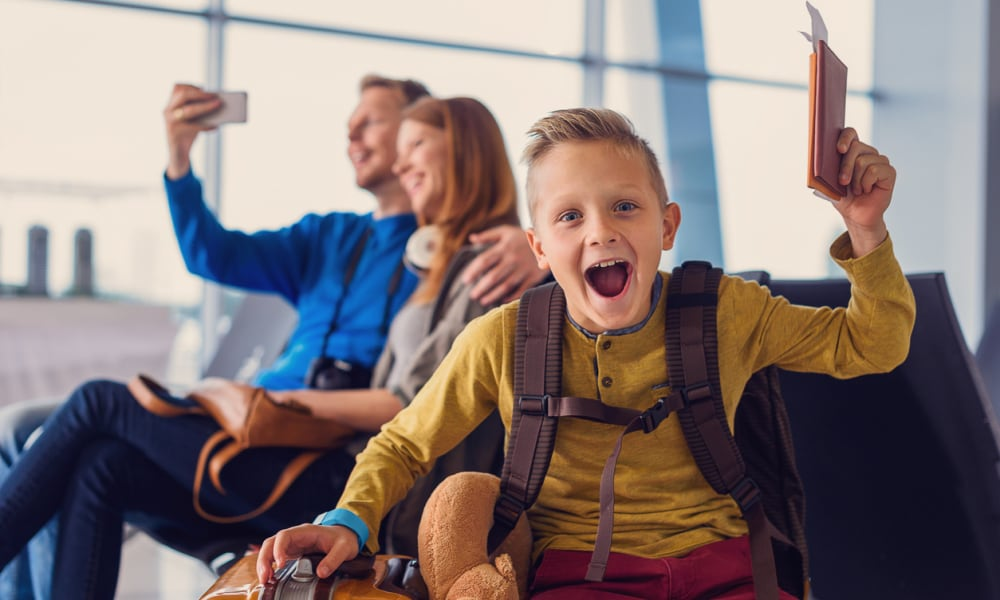 How to earn the whole family a free flight to an island holiday