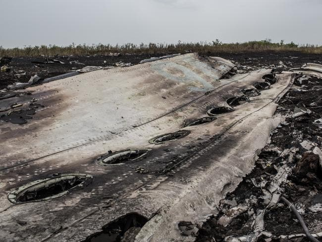 Debris from MH17. Picture: Brendan Hoffman/Getty Images