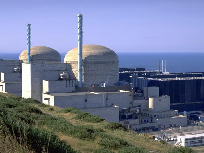 Flamanville nuclear power plant in Normandy, France. Picture: News Corp