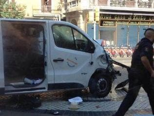 Supplied Editorial Van crashes into crowd in Barcelona