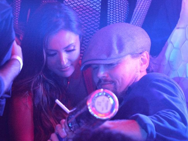 Leonardo DiCaprio and Katie Cleary pictured at Gotha Club in Cannes last month.