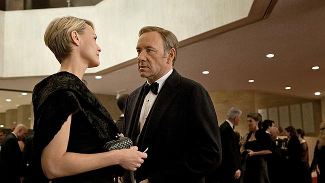 "Robin Wright is just as cunning as Spacey in ""House of Cards""."