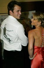 2004 - Actor Blair McDonough with Natalie Bassingthwaighte at Brownlow Medal presentation in Melbourne 20 Sep 2004. Picture: News Corp