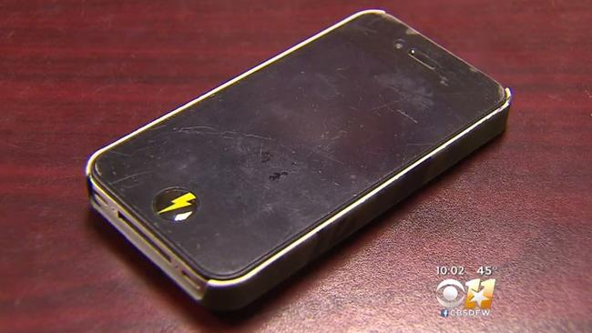 The iPhone in question. Picture: CBS DFW
